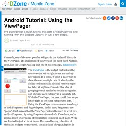 Android Tutorial: Using the ViewPager - DZone Mobile