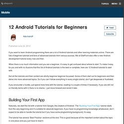 12 Android Tutorials for Beginners