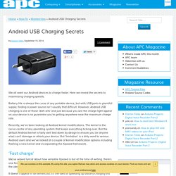 Android USB Charging Secrets