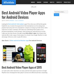Best Android Video Player Apps for Android Devices