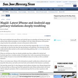 Magid: Latest iPhone and Android app privacy violations deeply troubling