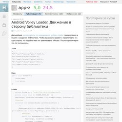 Android Volley Loader. Движение в сторону библиотеки