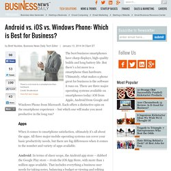 Android vs. iOS vs. Windows Phone: Which is Best for Business?