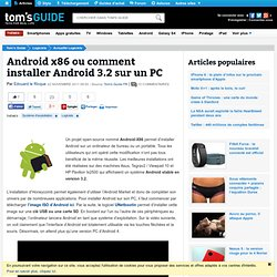 Android x86 ou comment installer Android 3.2 sur un PC