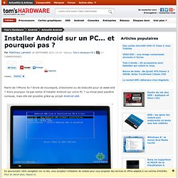 Android-x86 : Android sur PC