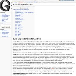 AndroidDependencies - Gnash Project Wiki