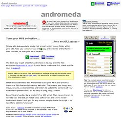 ► ♫ Andromeda Streaming MP3 server for PHP & ASP