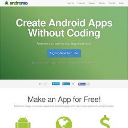 Andromo | Make Android Apps for Free. No coding required.