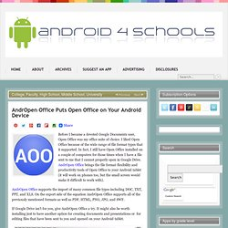 AndrOpen Office Puts Open Office on Your Android Device
