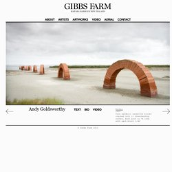 Andy Goldsworthy, Arches - Gibbs Farm