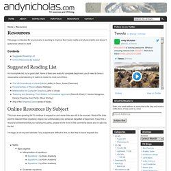Andy Nicholas » Resources