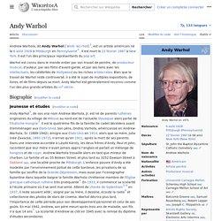 Andy Warhol Biographie