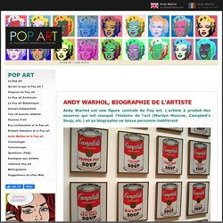 ANDY WARHOL et le Pop art