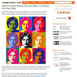 Add the Andy Warhol Pop Art Effect to Photos the Easy Way