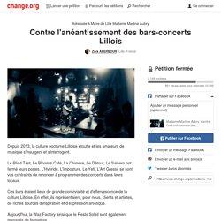 Contre l'anéantissement des bars-concerts Lillois