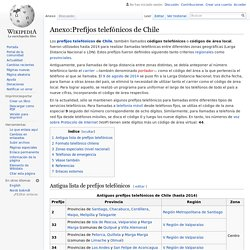 Prefijos telefónicos de Chile - Wikipedia