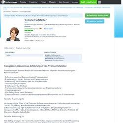 Yvonne Hofstetter aus Hallbergmoos, Produktmanager, Business Analyst, Marktstudie, Anforderungsanalyse, General Manager auf www.freelancermap.de