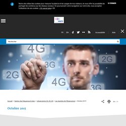 sites equipé en 4g (octobre 2015)