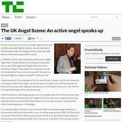 The UK Angel Scene: An active angel speaks up