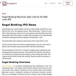Angel Broking receives Sebi nod for Rs 600 cr IPO