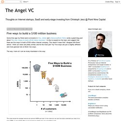 The Angel VC: Five ways to build a $100 million business