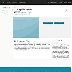 Angel Group | US Angel Investors
