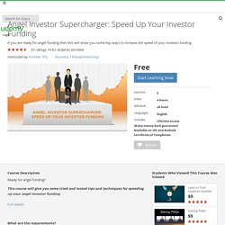 How to Find an Angel Investor: Angel Investor Supercharger