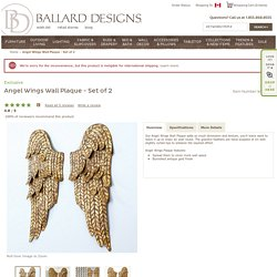Set of 2 Angel Wings Wall Plaque