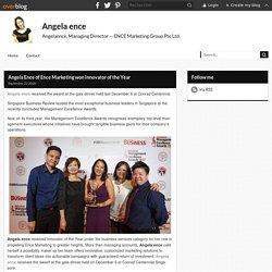 Angela Ence of Ence Marketing won Innovator of the Year - Angela ence