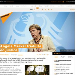 Angela Merkel traduite en justice