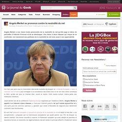 Angela Merkel se prononce contre la neutralité du net