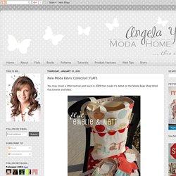 Angela Yosten: New Moda Fabric Collection: FLATS