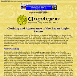 Angelcynn - Clothing and Appearance of the Pagan Anglo-Saxons