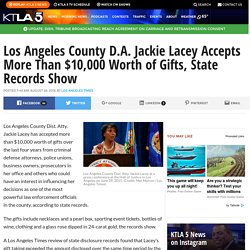 Los Angeles County D.A. Jackie Lacey Accepts More Than $10,000 Worth of Gifts, State Records Show