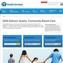 County of Los Angeles - Department of Health Services