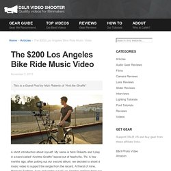 The $200 Los Angeles Bike Ride Music Video
