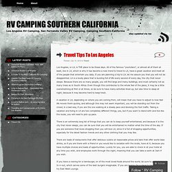 RV Camping Southern California