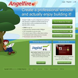 Free Website Hosting – Angelfire free website templates to make