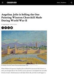 Angelina Jolie is Selling a Winston Churchill World War II Painting