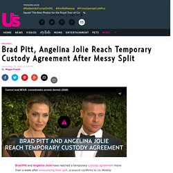 Brad Pitt, Angelina Jolie Reach Temporary Custody Agreement
