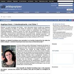 Angélique Voisin : L'interdisciplinarité, c'est l'Enfer ?