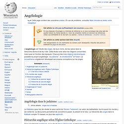 Angéologie/ Wikipedia