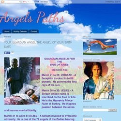 YOUR GUARDIAN ANGEL THE ANGEL OF YOUR BIRTH DATE
