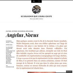 walter benjamin angelus novus pdf