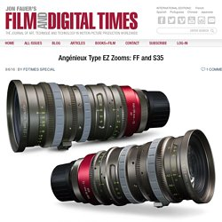 Angenieux Type EZ S35 & Full Frame Zooms