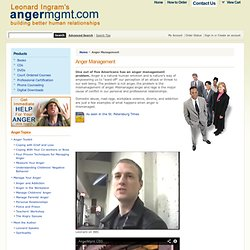 Anger Management Techniques, Managing Anger, Anger Management from Leonard Ingram