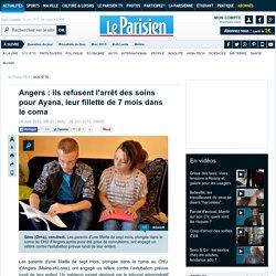 Angers : ils refusent l'arrêt des soins pour Ayana, leur fillette de 7 mois dans le coma