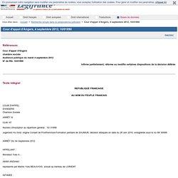 Cour d'appel d'Angers, 4 septembre 2012, 10/01890