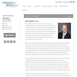 Mark Angert - Solomon Ward Partner