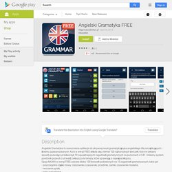 Angielski Gramatyka FREE – Applications Android sur Google Play
